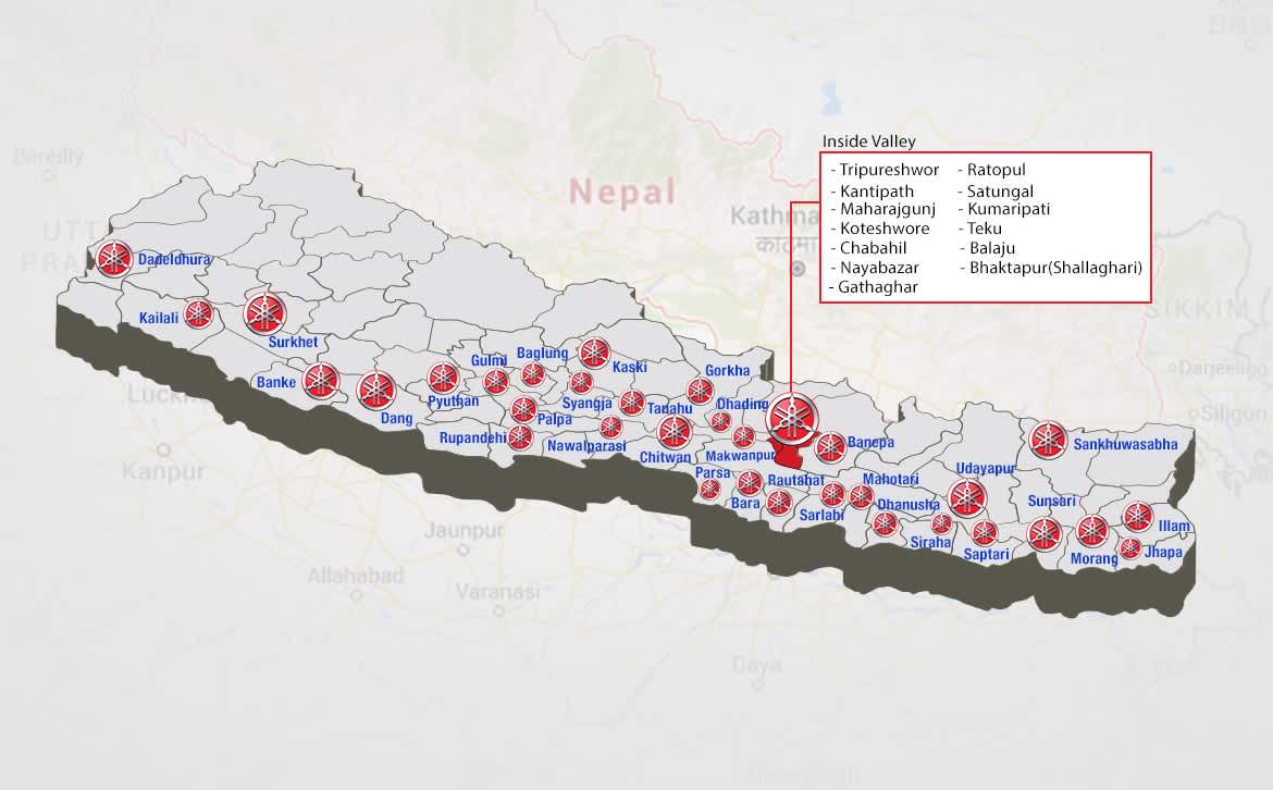 List of Yamaha Authorized Service Center in Nepal | Auto&Cell